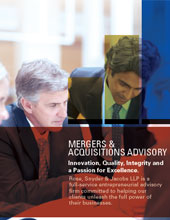 Mergers & Acquisitions Brochure