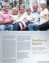 Families of Wealth Brochure